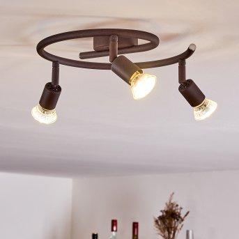 PLANES Ceiling Light LED rust-coloured, 3-light sources