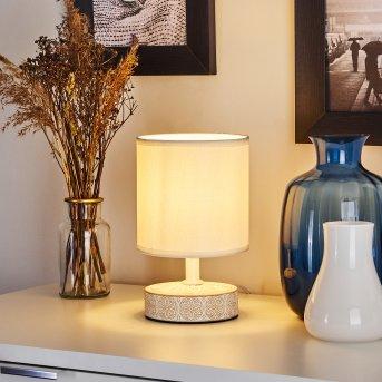 KIGOMBO Table lamp white, cream, 1-light source