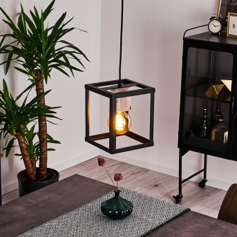 TURIZA Pendant Light black, Dark wood, 1-light source