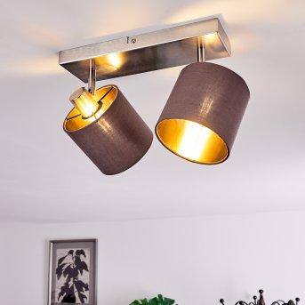 ALSEN Ceiling Light matt nickel, 2-light sources