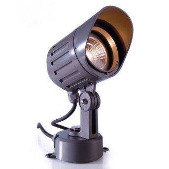 Deko Light POWER SPOT COB outdoor spotlight LED anthracite, 1-light source