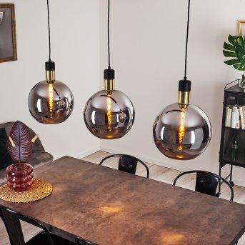 TUVALU Pendant Light brass, black, 3-light sources