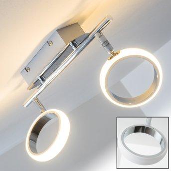 Dobris ceiling spotlight LED chrome, 2-light sources