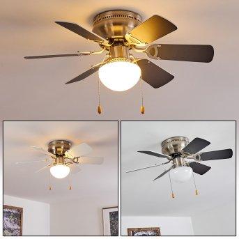 TRILLO ceiling fan matt nickel, grey, white, 1-light source