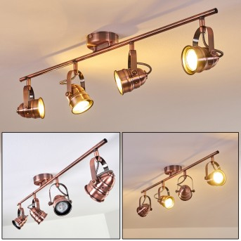 ANIAK Ceiling Light LED copper, 4-light sources