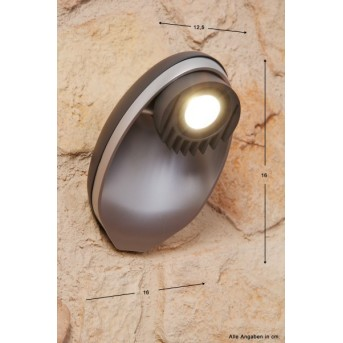 Lutec EGGO outdoor wall light LED anthracite, 3-light sources