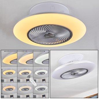 NAGOYA ceiling fan LED white, 1-light source, Remote control