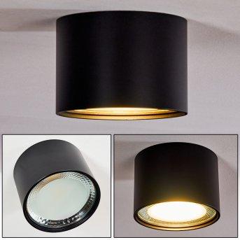 KRISTALLO Ceiling Light LED black, 1-light source