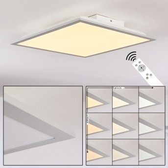 FARC Ceiling Light LED silver, 1-light source, Remote control