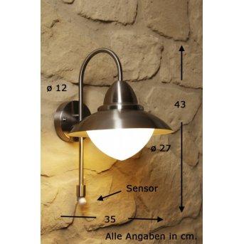 Eglo SIDNEY wall light stainless steel, Motion sensor