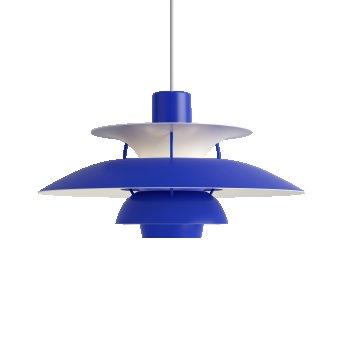 Louis Poulsen PH5 Pendant Light white, blue, 1-light source