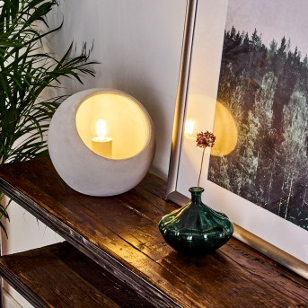 BELLTAL Table lamp grey, 1-light source
