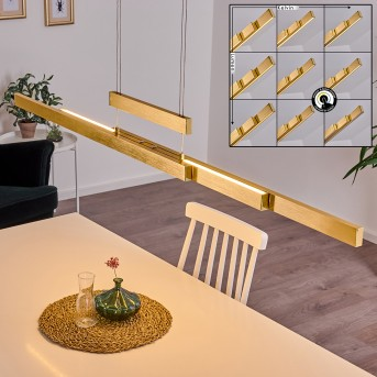 INICIO Pendant Light LED gold, 3-light sources