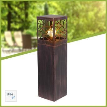 Brilliant WHITNEY pedestal light rust-coloured, 1-light source