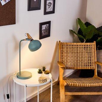 BREAMO Table lamp green , Dark wood, 1-light source