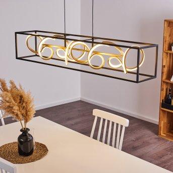 PERICOS Pendant Light LED black, 4-light sources