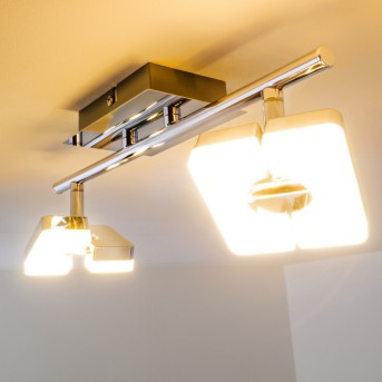 Turin ceiling spotlight LED chrome, 2-light sources