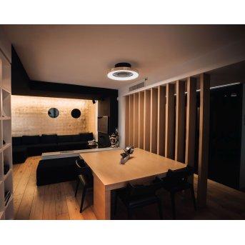 Mantra TIBET ceiling fan LED black, gold, 1-light source, Remote control