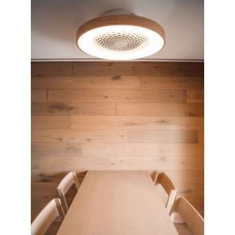 Mantra TIBET ceiling fan LED white, Dark wood, 1-light source, Remote control