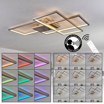 Momahaki Ceiling Light LED chrome, 1-light source, Remote control