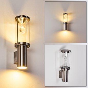 Natalia Outdoor Wall Light LED matt nickel, 2-light sources