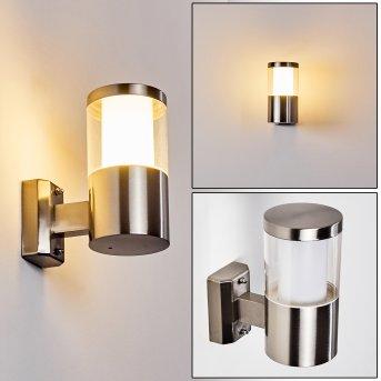 Leon Outdoor Wall Light LED matt nickel, 1-light source