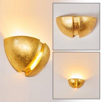 KAWASAKI Wall Light gold, 1-light source