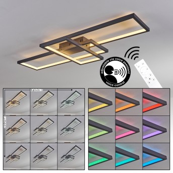 Momahaki Ceiling Light LED anthracite, 1-light source, Remote control