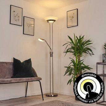 Mairoa Floor Lamp LED matt nickel, 2-light sources