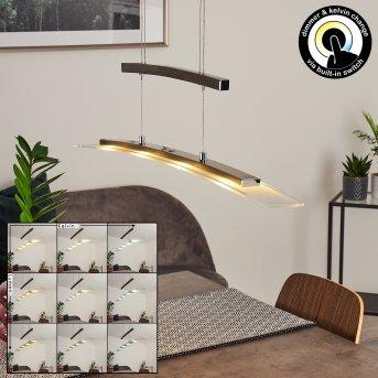 Balcairn Pendant Light LED matt nickel, 4-light sources