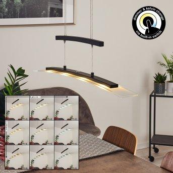 Balcairn Pendant Light LED black, 4-light sources