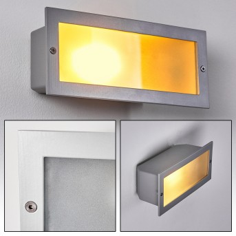 Peria recessed wall light white, 1-light source