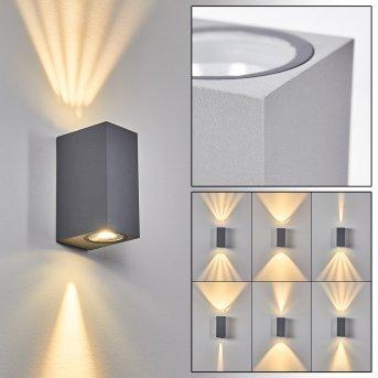 Komoren Outdoor Wall Light LED grey, 2-light sources
