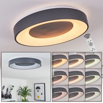 Casina Ceiling Light LED anthracite, white, 1-light source, Remote control
