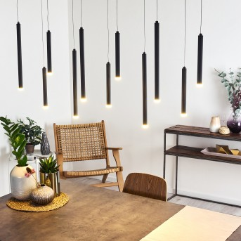 Porquera Pendant Light LED black, 11-light sources