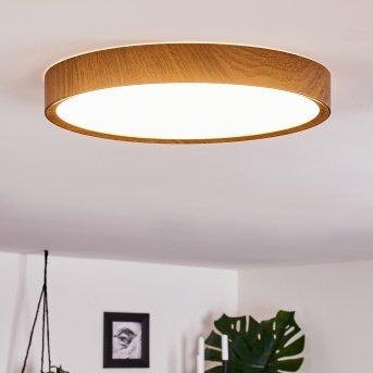 Nexo Ceiling Light LED white, Dark wood, 1-light source