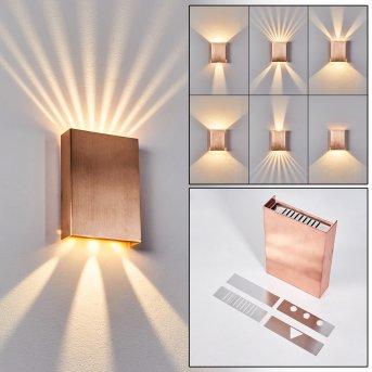 Benin Wall Light LED copper, 2-light sources