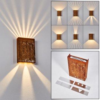 Benin Wall Light LED rust-coloured, 2-light sources