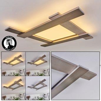 Cuchara Ceiling Light LED matt nickel, 1-light source