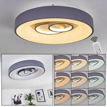 Gabbiana Ceiling Light LED grey, white, 1-light source, Remote control