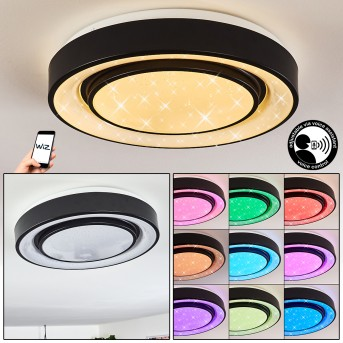 Grimacco Ceiling Light LED black, 1-light source, Colour changer