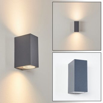 Kingstown Outdoor Wall Light anthracite, 2-light sources