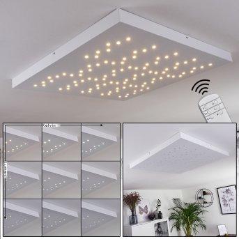 Cetara Ceiling Light LED grey, 1-light source, Remote control, Colour changer