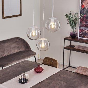 Mesas Pendant Light white, 3-light sources