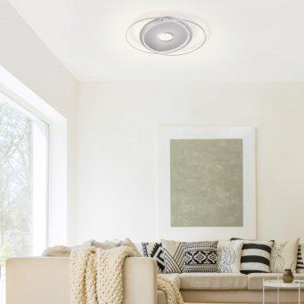 Paul Neuhaus Q-AMIRA Ceiling Light LED brushed steel, 1-light source, Remote control