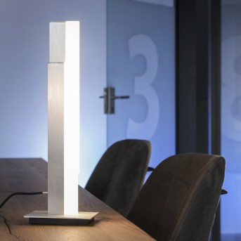 Paul Neuhaus Q-TOWER Table lamp LED aluminium, 2-light sources, Remote control