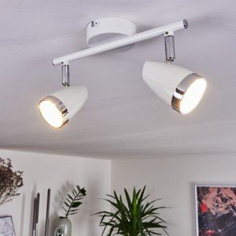 Idlewild Ceiling Light LED chrome, white, 2-light sources