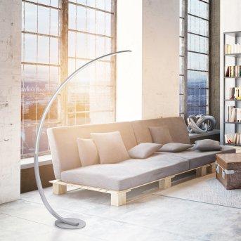 Paul Neuhaus Q-VITO Floor Lamp LED stainless steel, 1-light source, Remote control