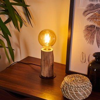 Pozos Table lamp black, Light wood, 1-light source