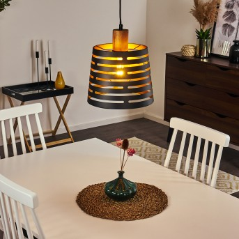 Strathmore Pendant Light black, Dark wood, 1-light source